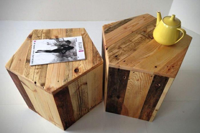 gartenmöbel selber bauen - zwei modelle tisch aus europaletten