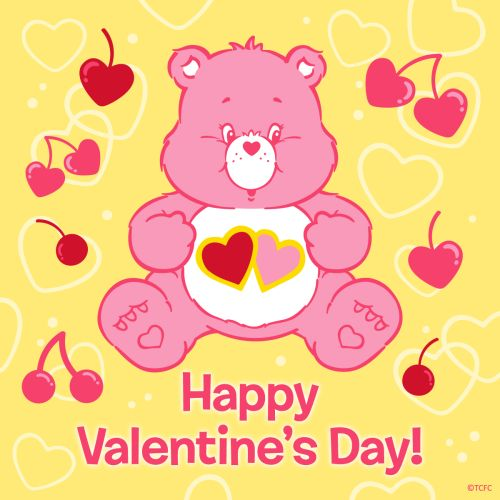 care bear valentines day cards