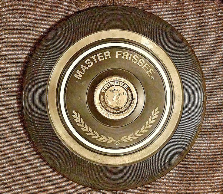 """Vintage Frisbee Disc Wham-O Master Tournament 1973, ID #729848, Black 10 1/2""""  #WhamO"""