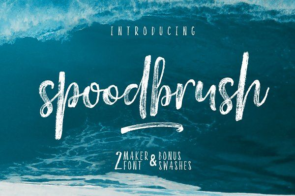 Spoodbrush - Font Duo - Script