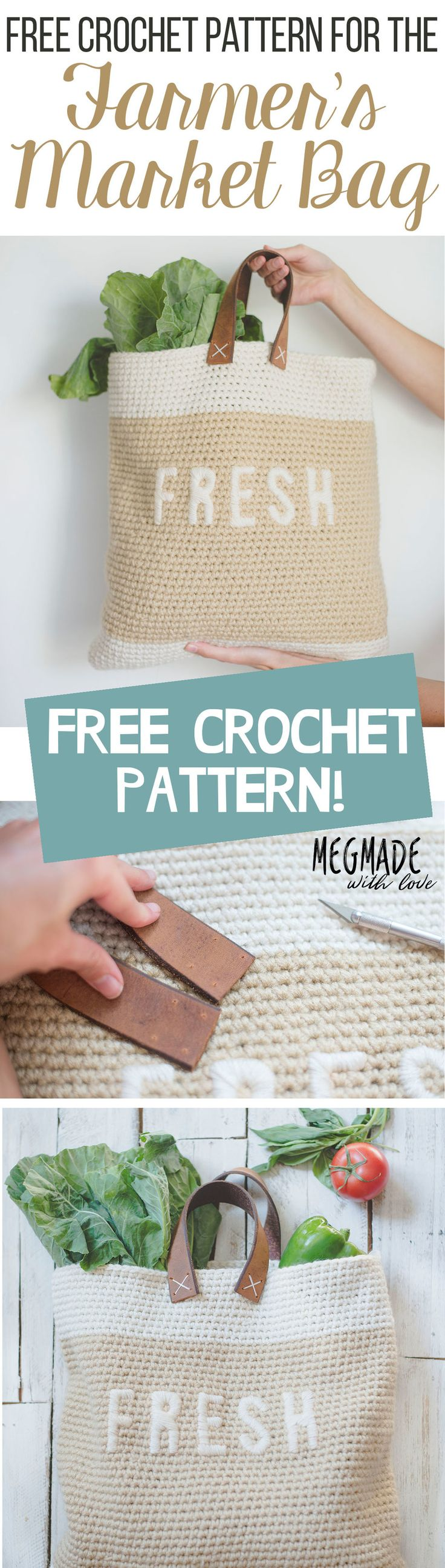 Free Crochet Pattern for the Farmer's Market Bag — Megmade with Love