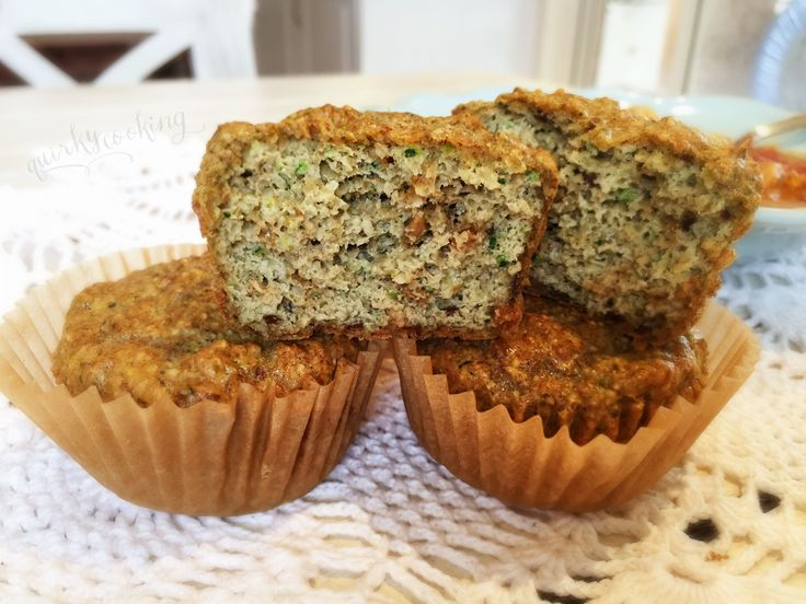 Quirky cooking zucchini and pepita muffins grain free