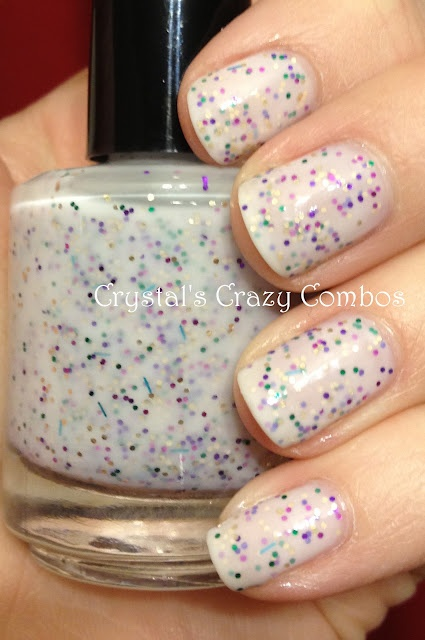 Pretty & Polished - Party on my Yacht - 3 coats - just look at that gorgeous bottle!!!Makeup Polish