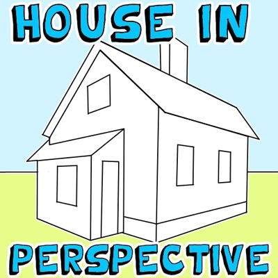 How to Draw a House in 2 Point Perspective with Easy Step by Step ...