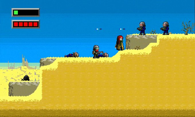 """THE SEASHORE"" is action platformer with RPG and metroidvania elements where you HAVE to play together!"
