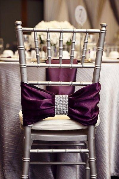 Fall wedding decor: Satin chair detail