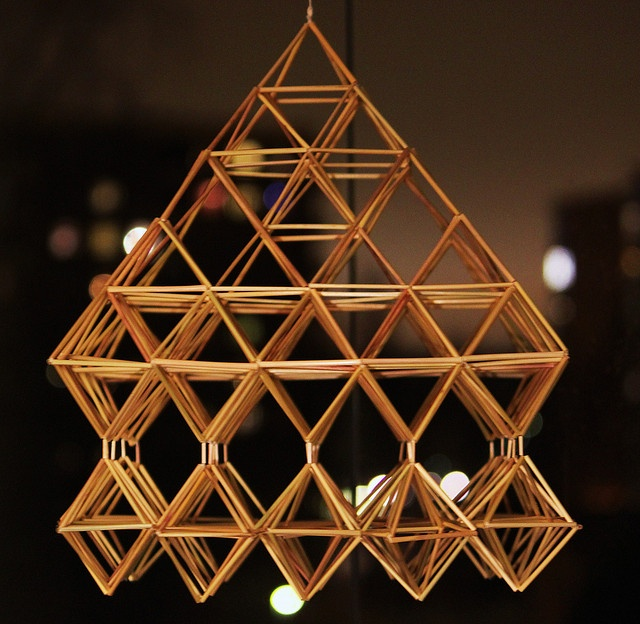 Himmeli by Hannhell, via Flickr. A traditional Finnish Christmas decoration.
