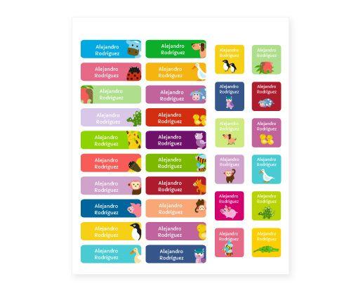32 Etiquetas termoadhesivas Animales