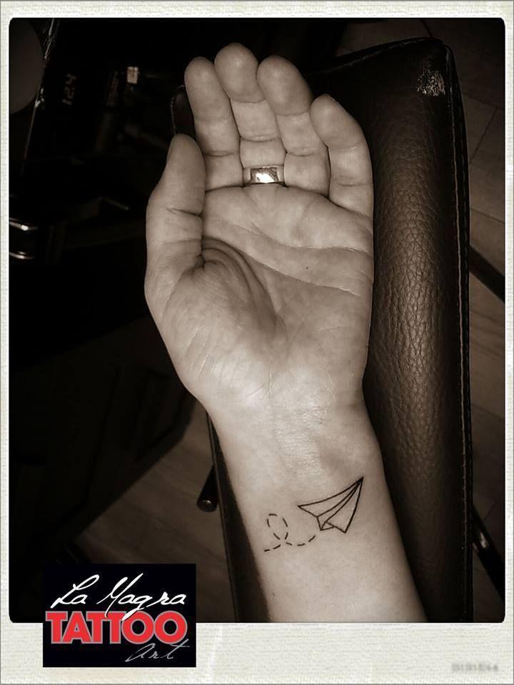 #paper #plane #tattoo