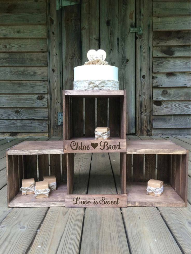 Rustic Wedding Cupcake Stand, Rustic Wedding Cupcake Stand, Wedding Crate, Heart Design Cupcake Stand by RusticOwlShop on Etsy https://www.etsy.com/listing/241375618/rustic-wedding-cupcake-stand-rustic