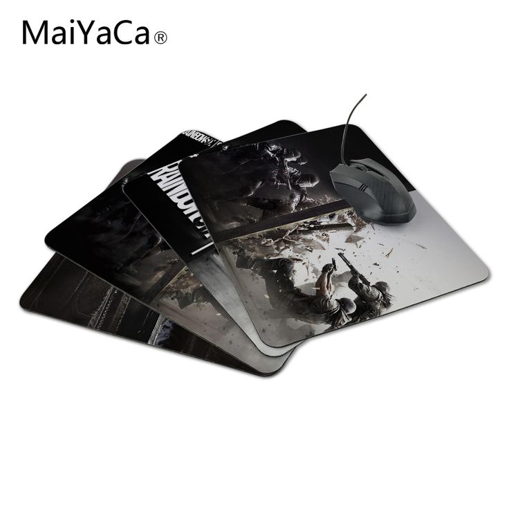 MaiYaCa New Anti-Slip PC Tom Clancy's Rainbow Six Siege Silon Mouse Mat 220mmX180mmx2mm Pad Me Mat for Optal