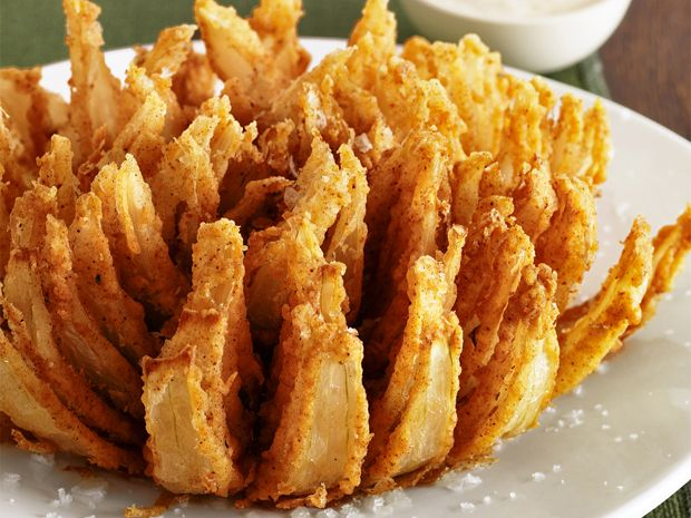 Almost-Famous Bloomin' Onion from #FNMagFood Network, Bloomin Onions, Restaurant Recipes, Onions Recipe, Outback Steakhouse, Bloom Onions, Restaurants Recipe, Almost Famous, Copycat Recipe