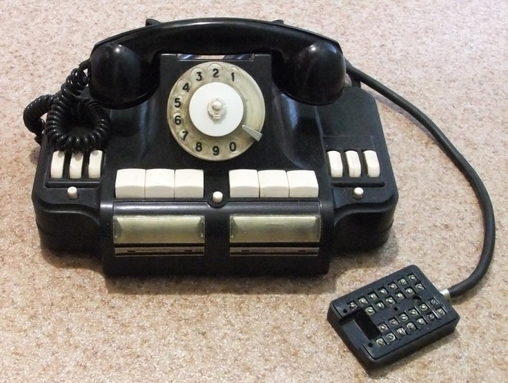 Vintage bakelite phone from Russia. According to the seller, many Soviet leaders had these in their offices. Circa 1968. http://www.dancefilmskino.com