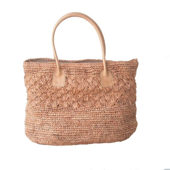 Handmade Large Straw Bag Straw Tote by MOOSSHOP on Etsy