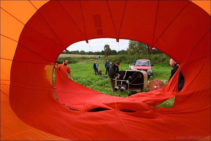 Příprava balónu na start