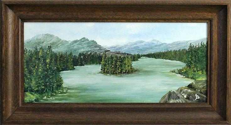 Obrazy - Tiché jazero - Originál olejomaľba by artist Jozef Baláž