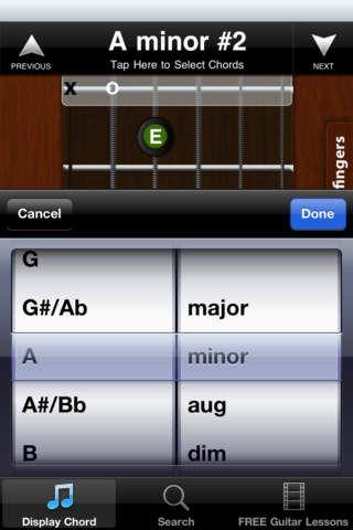 Guitar Chord Library Lite screenshot