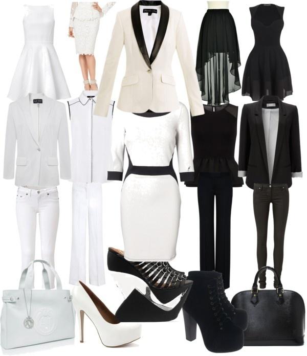 black   white party attire  d1f035187