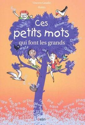 Livres Ouverts : Ces petits mots qui font les grands- Vincent Gaudin - livre pour travailler les préfixes ou les suffixes