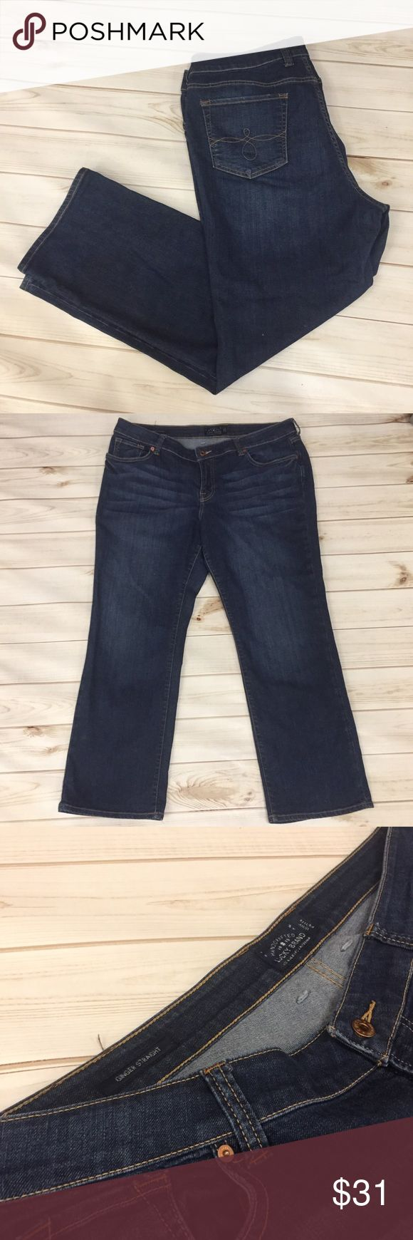 """Women's Petite Lucky Brand Jeans size 18WP! ❤️ These Lucky jeans are Ginger Straight and super cute! Please note- these are Petite jeans!! Inseam is approximately 30"""". (WP166) Lucky Brand Jeans Straight Leg"""