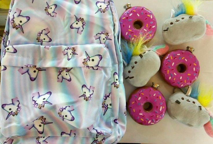 Рюкзак единорог 1890 (он 1 и только в Весне) Фляжка пончик 1190 Кошка единорог 329 #wanttasty #единорог #пончик #пушин #милота
