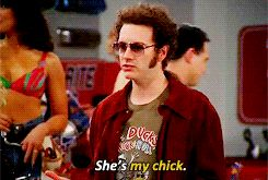 """He protected her.   Community Post: 21 Reasons Jackie And Hyde From """"That '70s Show""""  Were The Best Couple Ever"""