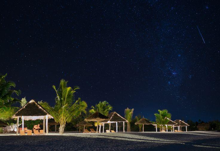 Shooting star at Konokono in a wonderful winter night