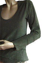 Leichter Pullover aus Frottee