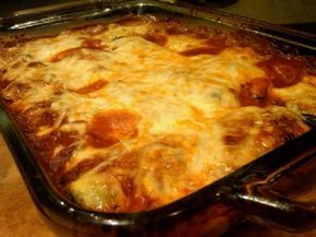 I love lots of South Beach Diet recipes, but some of them are a little too high in fat or sodium for my taste. I this Phase 1 basic, I've shortened the preliminaries and substituted fat free cheeses. Shhhhhh! No one will know! And it's still a great make-ahead dinner!