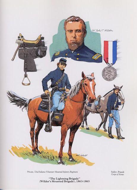"PLATES- CMH: ""The Lightning Brigade"" (Wilder's Mounted Brigade), 1863-1865, by Edward T. Vebell."