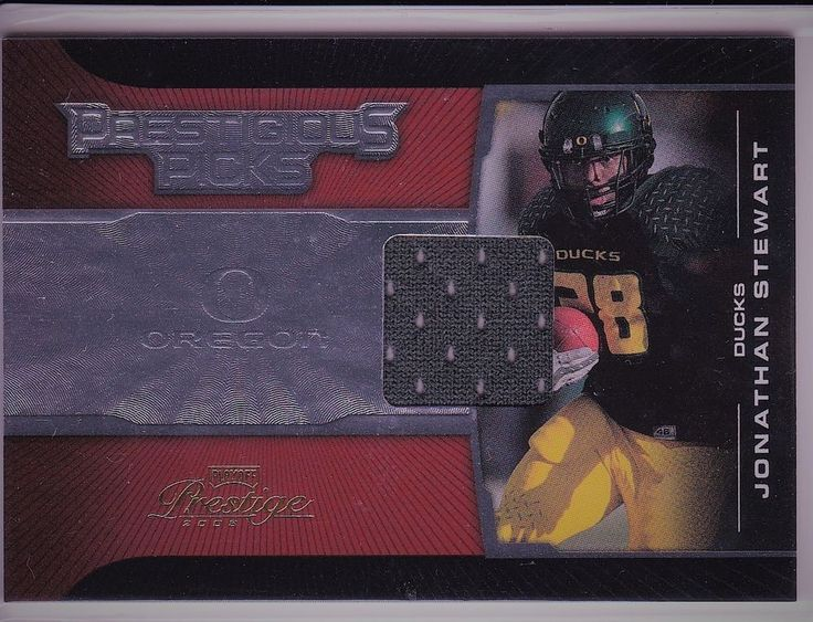 2008 Prestigious Picks Playoffs Oregon Ducks Jonathan Stewart Jersey Patch Card #CarolinaPanthers