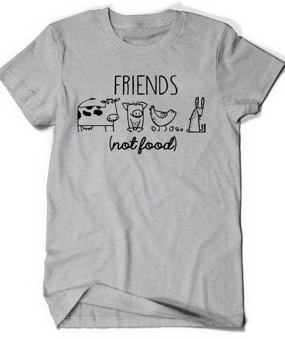 Vegan Shirt Vegetarian T Shirt Tee Mens Womens Ladies Gift Present Animal Lover Statement Tee Animal Rights Rescue Friends Not Food Shirt