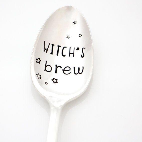 Witchu0027s Brew, Hand Stamped Spoon. Halloween Gift. Halloween Decor. Halloween  Kitchen Utensil Part 57