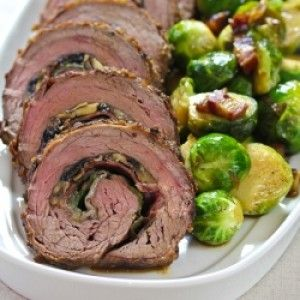 Stuffed Flank Steak(with mushrooms and prosciutto)