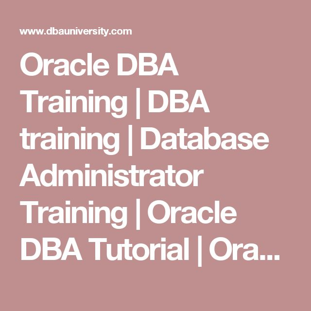 Best  Oracle Database Administrator Ideas On