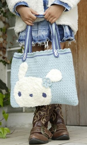 Adorable.... Maybe a plain fabric bunny on a patchwork background?