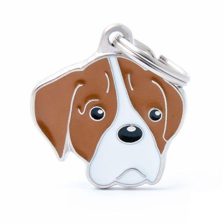 Placa Identificativa Perro Boxer Blanco Recomendamos grabar el nombre de su mascota y un teléfono fácil de contactar. Una vez seleccionada lachapa, los datos a grabardeber...