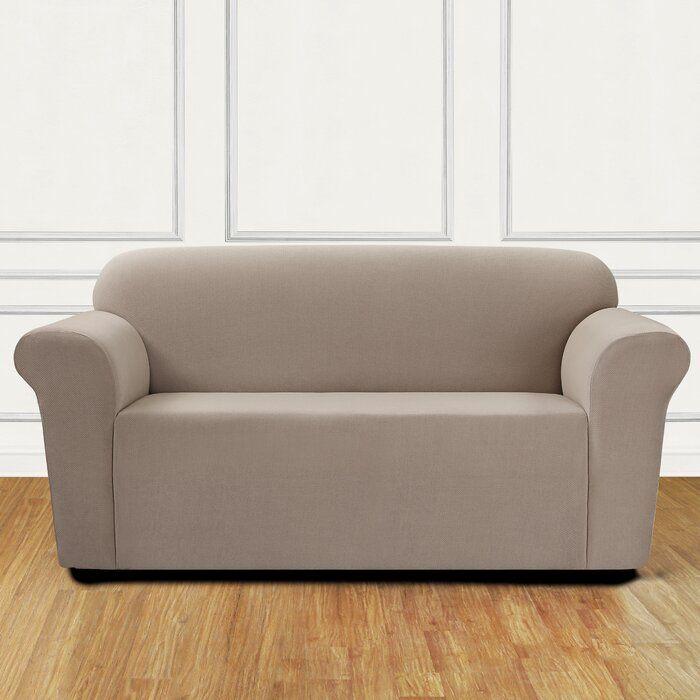 Stretch Mini Chevron Box Cushion Loveseat Slipcover Love Seat Loveseat Slipcovers Loveseat Covers