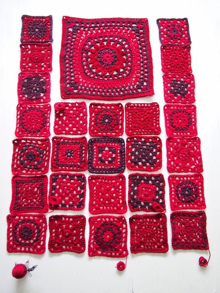 menstrual blanket, make a square each circle
