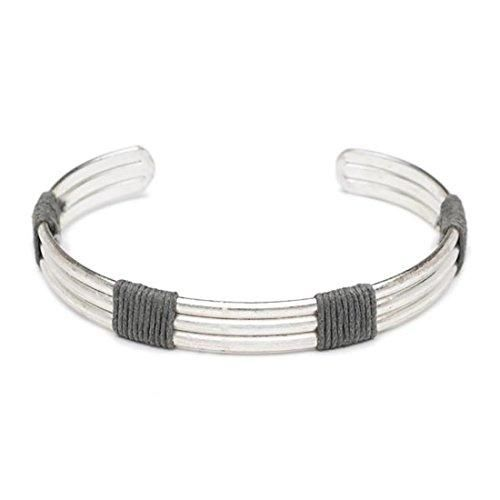 """Fair Trade Men's """"Anjun"""" Brass Cuff Bracelet Silver or Copper"""