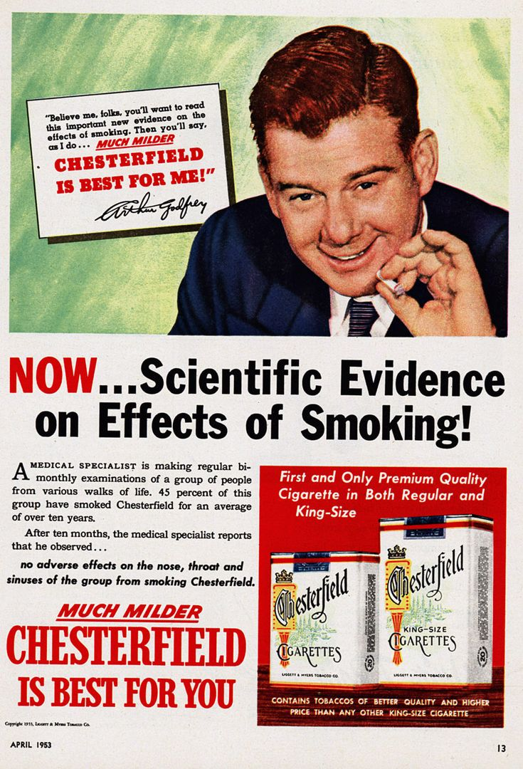 """""""Chesterfield Is Best for Me"""" is written on Arthur Godfrey's tombstone! #BadAds"""