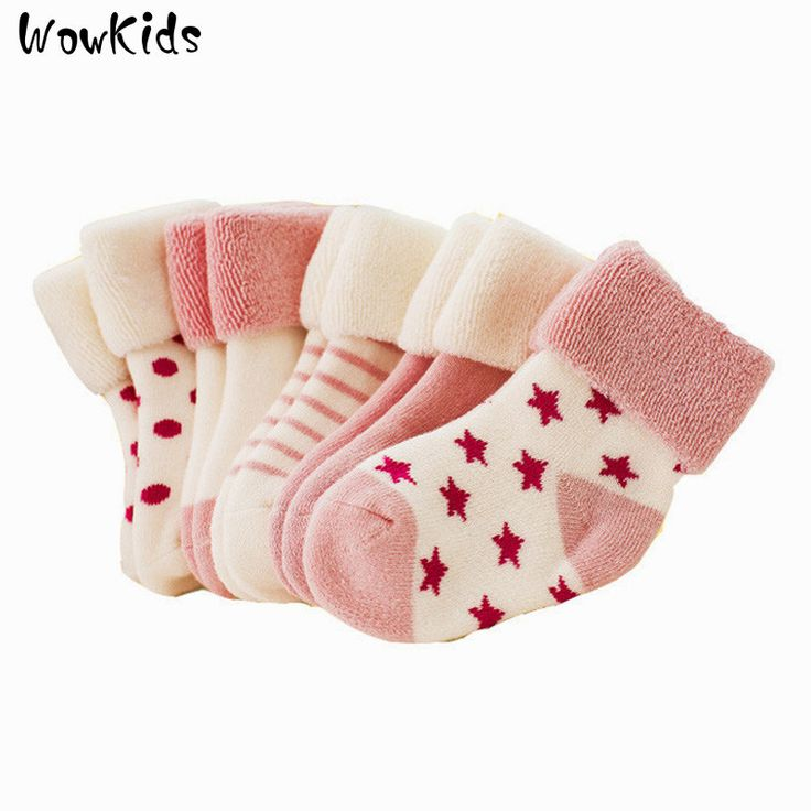 5 Pairs/Lot Christmas Baby Girls Socks Newborn Baby Boy Socks Winter Meias Para Bebe Calcetines Calzini Antiscivolo