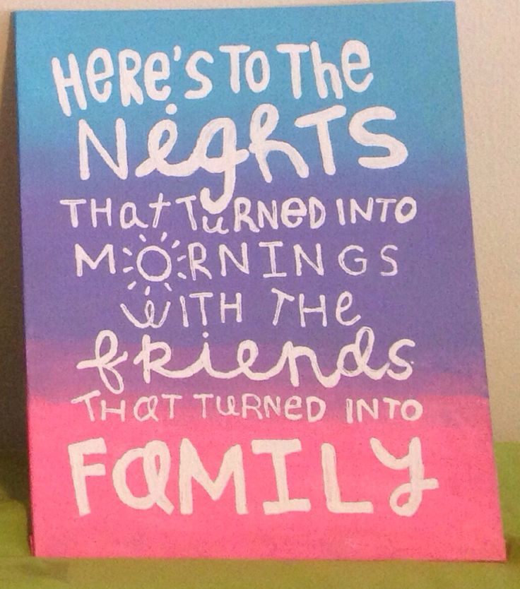 Friend Quotes On Canvas : Cute quote for my little big sorority crafts