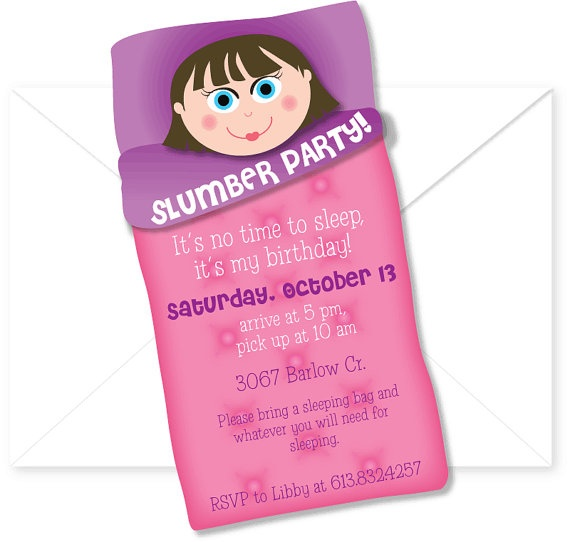 10 best As Faux Slumber Party images – Almost Sleepover Party Invitations