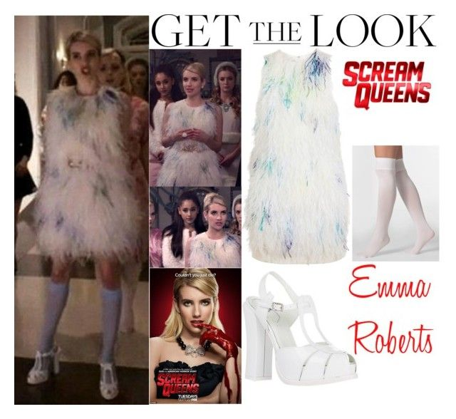 """Emma Roberts Scream Queens Episode 1 (#2)"" by valensmilerstyle ❤ liked on Polyvore featuring 3.1 Phillip Lim, American Apparel and Fendi"