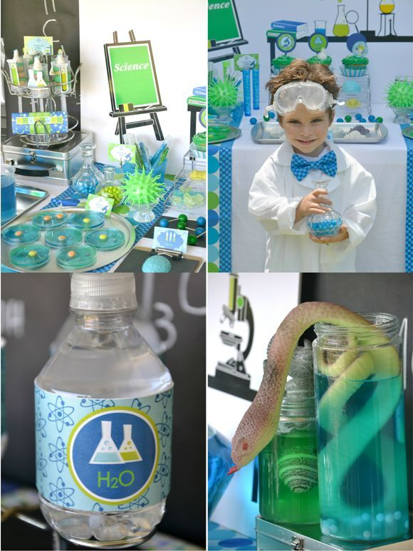 Kids Birthday Party Ideas: Mad Scientist Science Inspired Birthday Party! blog.birdsparty.com