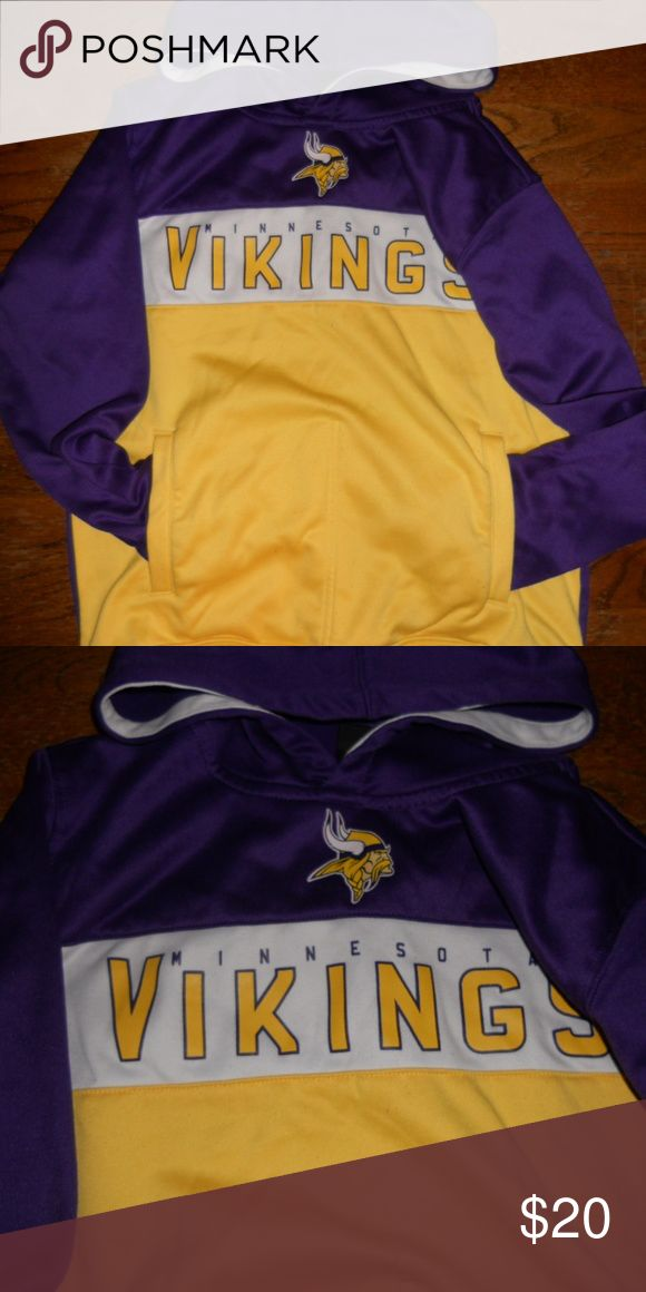 Minnesota Vikings Hooded Sweatshirt Youth Boys M Minnesota Vikings Hooded Sweatshirt Youth Boys M 10-12 Official NFL Merchandise. Sweater is in excellent condition. NFL Shirts & Tops Sweatshirts & Hoodies
