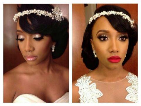 21 best Black Bride Makeup images on Pinterest | Bridal hairstyles ...
