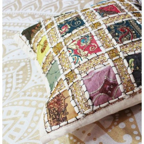 Boho Inspired Cotton White Cushion cover