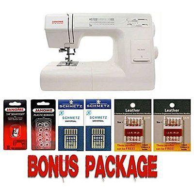 Рriсе - $552.79. Sewing Machines Janome HD3000 Mechanical Sewing Machine Bundle With 5 Piece Kit ( Brand - JanomeDC1050wBonus, Model Number - HD3000 w/Bonus, MPN - HD3000 w/Bonus, UPC - 713382038553, Category - Sewing Machines, EAN - 0713382038553    )
